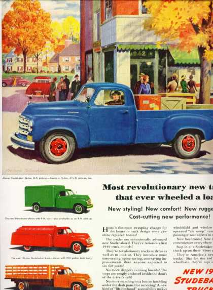 Studebaker Trucks 3/4 Ton Pickup Shown (1949)