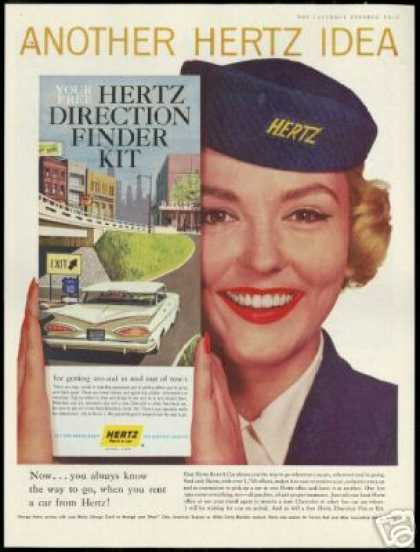 Hertz Rent A Car Pretty Empolyee Photo (1959)