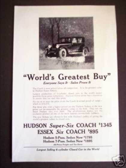 Hudson Super-six 6 Essex Coach Antique Car (1925)