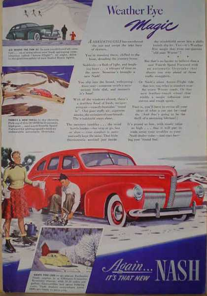 Nash Automobile Auto Weather Eye Magic (1940)