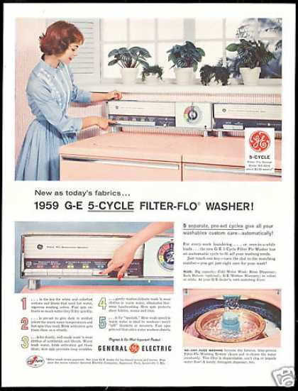 GE General Electric Pink Washer Dryer (1958)