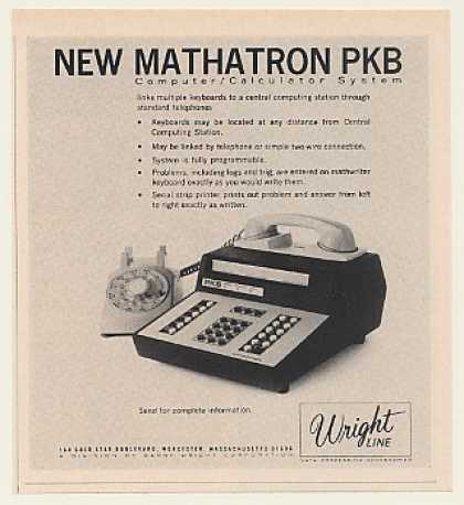 Wright Line Mathatron PKB Computer Calculator (1968)