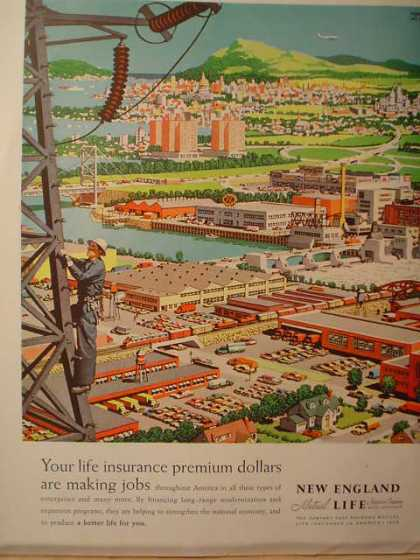 New England Life Insurance City Scene (1958)