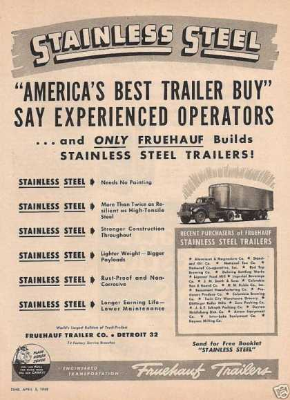 Stainless Steel Fruehauf Trailers (1948)