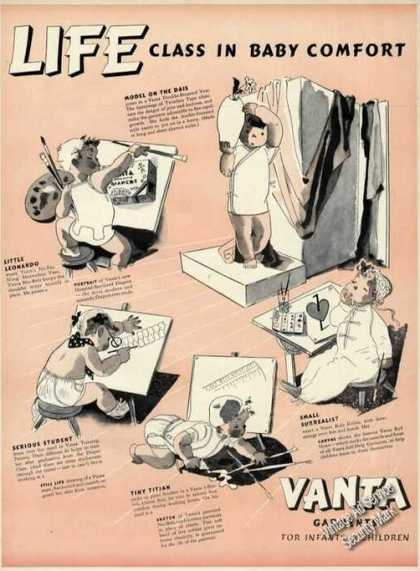 Vanta Child Clothes Baby Comfort Drawings (1939)