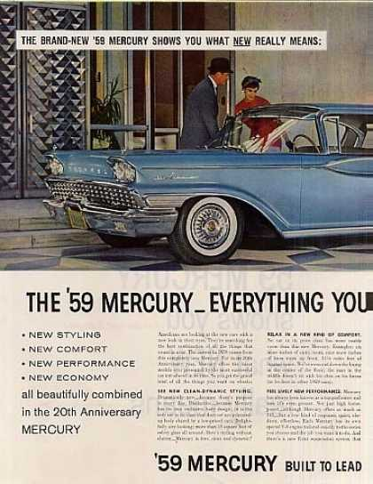 Mercury Park Lane Car Ad 2 Page (1959)