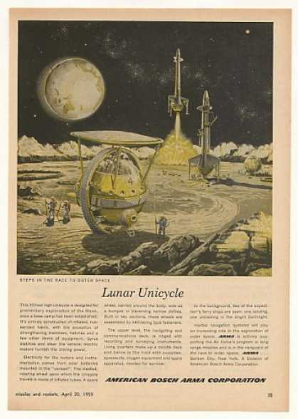 American Bosch Arma Lunar Unicycle Moon Explore (1959)