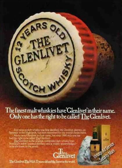 The Glenlivet Impressive Uk Scotch Whiskey (1978)