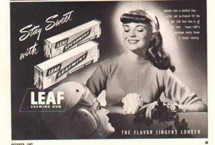 Leaf Chewing Gum – Spearmint & Leaf Mint (1947)