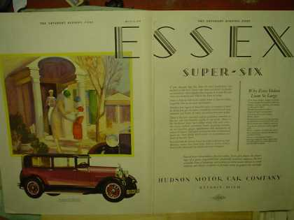 Hudson Motor Car Essex Super Six 2 pg (1928)