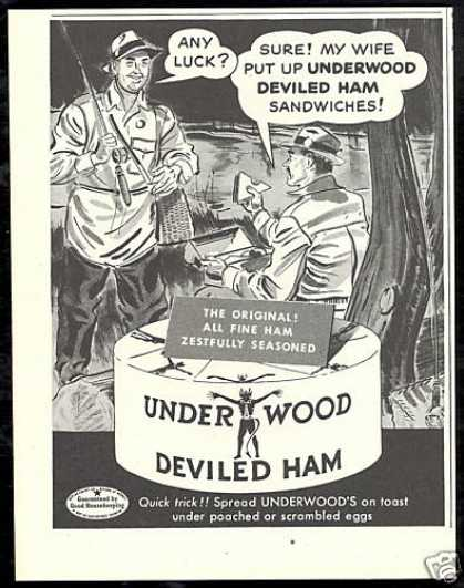 Fly Fisherman Underwood Deviled Ham (1950)