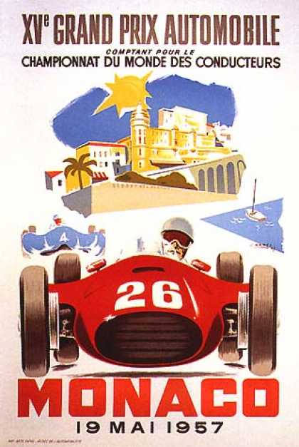 Monaco Grand Prix by J. Ramel (1957)