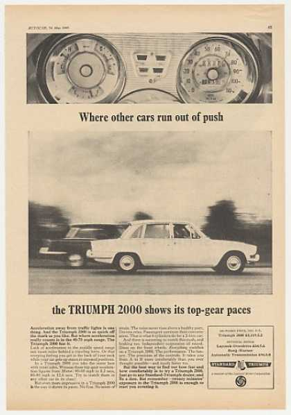 Triumph 2000 Top-Gear Acceleration British (1965)