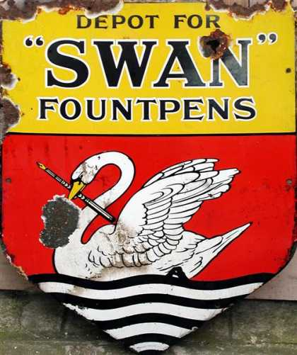Swan Fountpens Sign