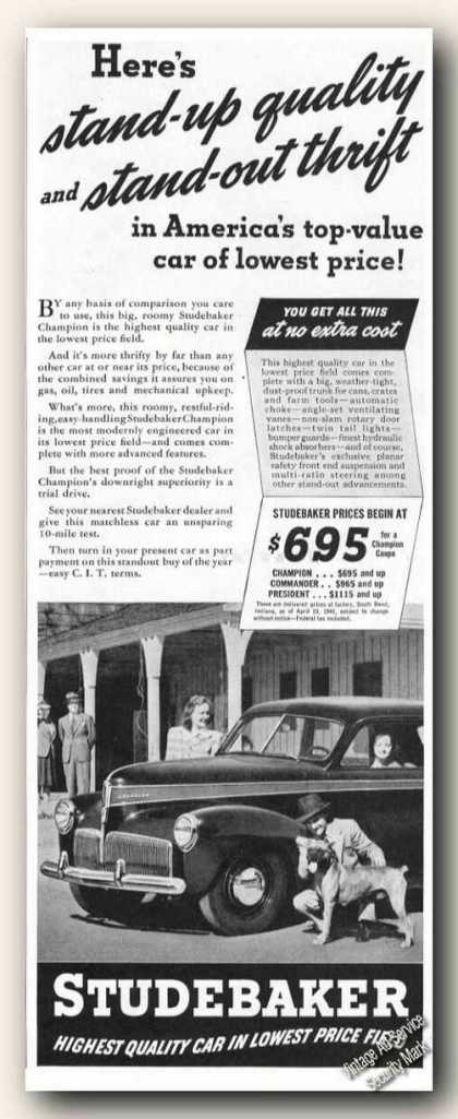 Studebaker Photo Antique Car (1941)