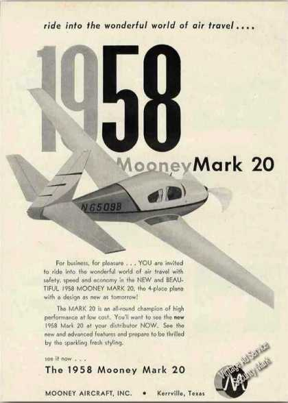 Mooney Mark 20 Collectible Airplane (1958)