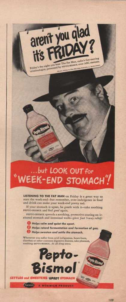 Weekend Stomach Pepto Bismol (1949)