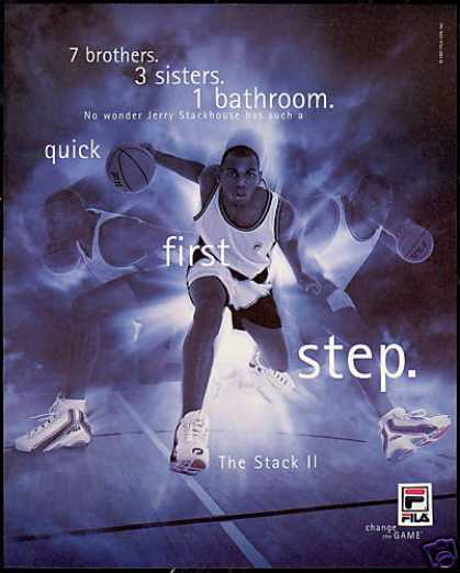Jerry Stackhouse Basketball Photo Fila Shoe (1997)