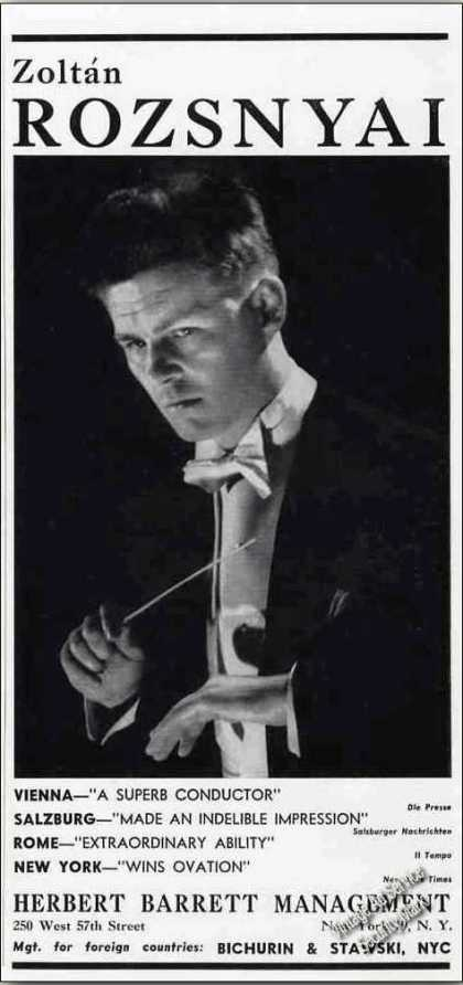 Zoltan Rozsnyai Photo Conductor Trade (1962)