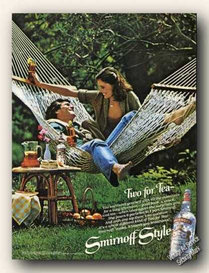 Smirnoff Vodka Couple In Hammock Lazy Afternoon (1979)