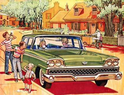 Coolest car on the block Ford 			Fairlane 500 with SelectAire Conditioner (1959)