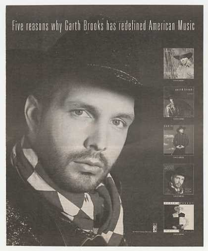 Garth Brooks Five Albums Photo Promo (1992)