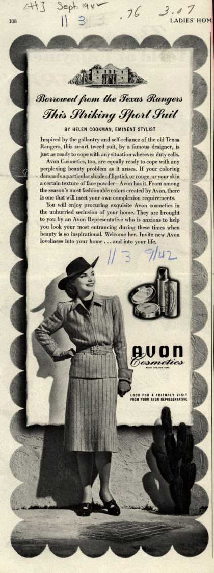 Avon – Borrowed from the Texas Rangers This Striking Sport Suit (1942)