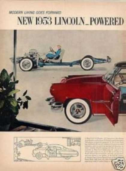 Lincoln Car Ad 2 Page (1953)