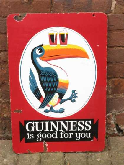 Guinness Is Good For You Enamel Pub Sign