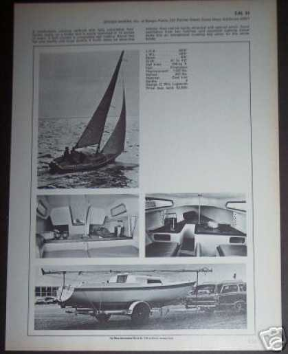 Jensen Marine Cal 21 Sailboat Boat Spec Page (1971)
