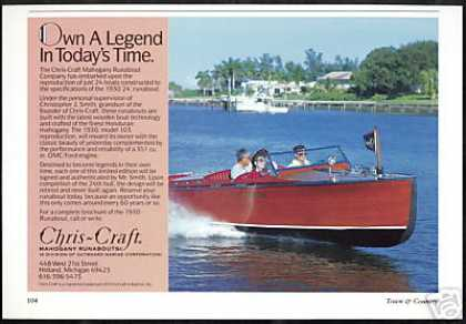 Chris Craft Boat 1930 Reproduction 24' Runabout (1990)