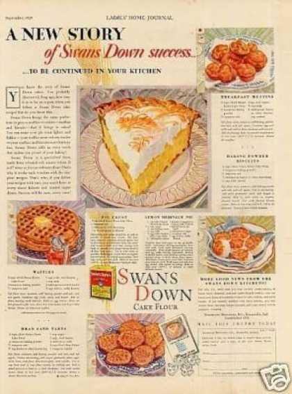 Swans Down Cake Flour (1929)