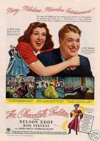 "Movie Ad ""The Chocolate Soldier"" Nelson Eddy (1941)"
