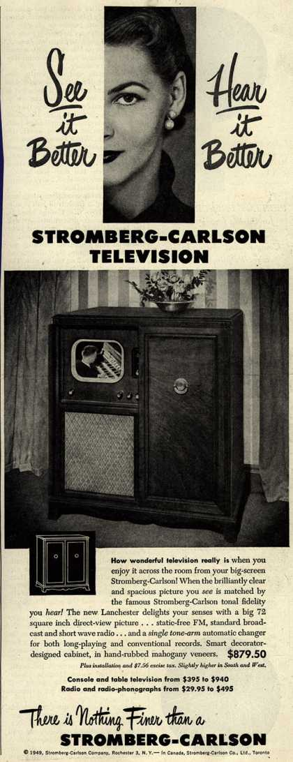 Stromberg-Carlson Company's Lanchester – See it Better Hear it Better Stromberg-Carlson Television (1949)