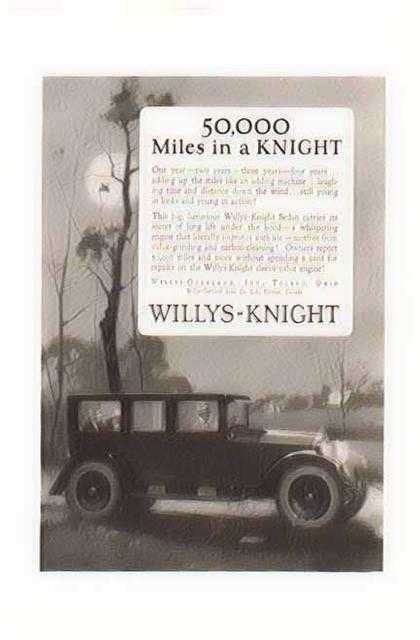 Willys Knight Sedan Car – 50,000 Miles in a Knight (1924)