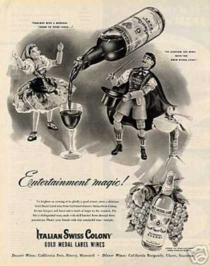Italian Swiss Colony Wine (1947)