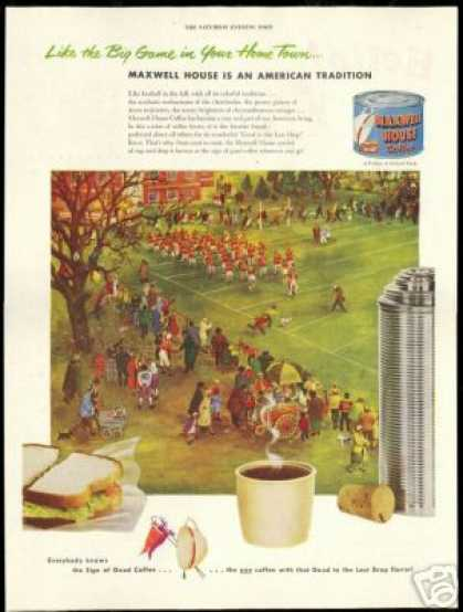 Home Town Football Maxwell House Coffee (1951)