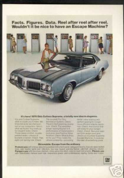 Oldsmobile Cutlass Supreme Car Reel Computer (1970)