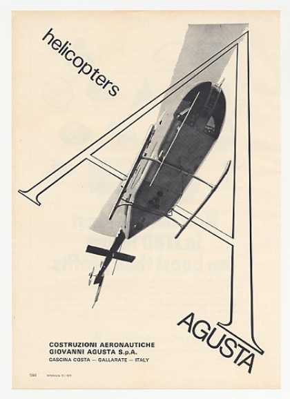 Agusta Helicopter Photo (1972)