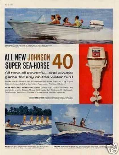 Johnson Super Sea-horse 40 Outboard Motor (1960)