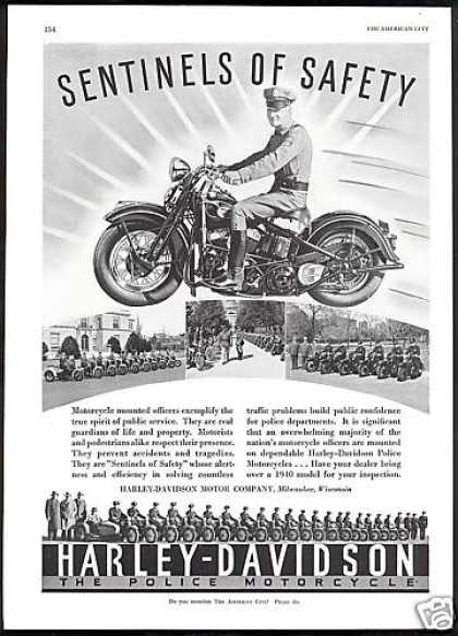 Harley Davidson Motorcycle Police Department (1940)