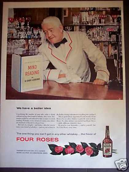 54 Mind Reading Bar Tender Photo Four Roses Whiskey