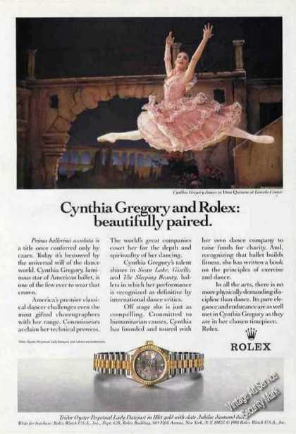 Rolex Cynthia Gregory at Lincoln Center (1989)