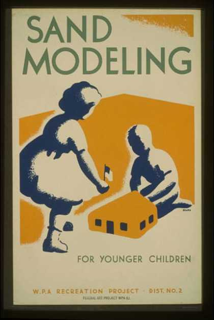 Sand modeling for younger children – WPA recreation project, Dist. No. 2 / Beard. (1939)