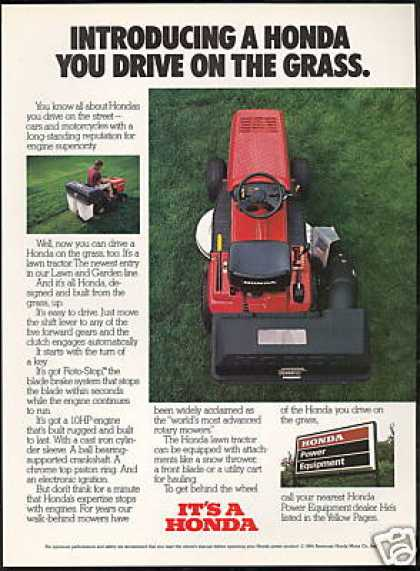 Honda Riding Lawn Mower Tractor Photo (1984)