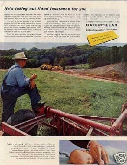 "Caterpillar Tractor Ad ""He's Taking Out... (1959)"