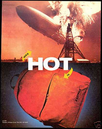 Hindenburg Zeppelin Disaster Eastpak Backpak (1989)