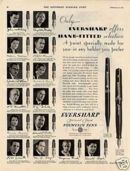 Eversharp Fountain Pens (1931)