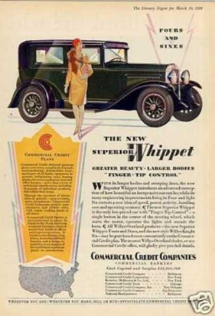 Commercial Credit Ad Whippet Car (1929)
