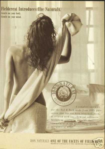 Fieldcrest 100% Natural Towel Woman Model (1991)